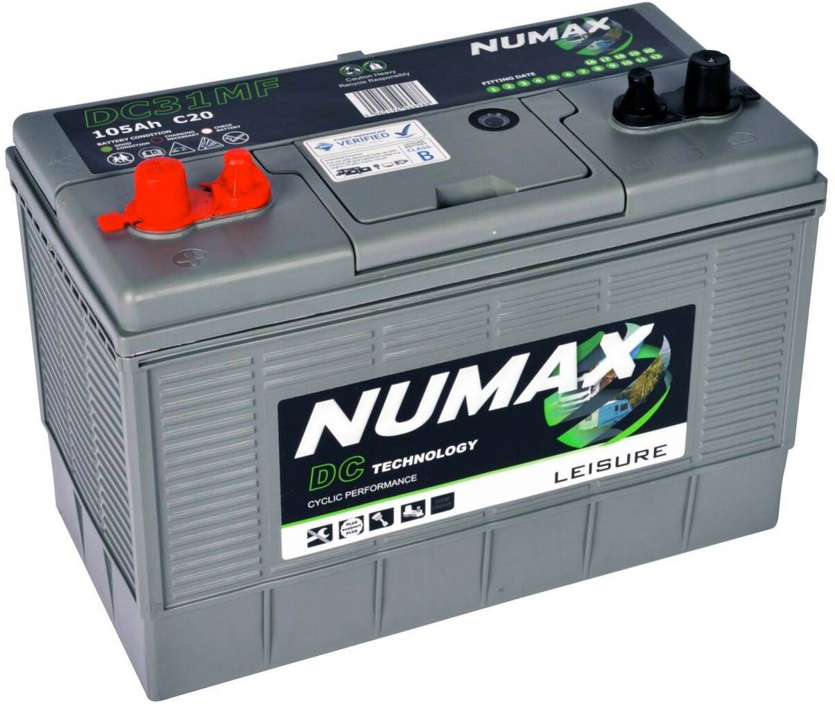 Numax 105amp Leisure Battery